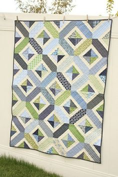 quilt - pattern for second citron/grey or blues/greens?.