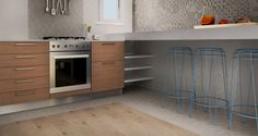 Cocina in Castellon, Espana, virtual image, rendered with DomuS3D® 2017 and V-Ray