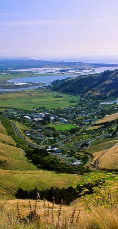Heathcote Valley, Avon Estuary And Pegasus Bay, Christchurch, New Zealand