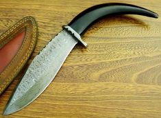 Damascus Steel, Damascus Knife, Global Knife Set, Knife Handles, Knife Sets, Beautiful, Buffalo, Bowie Knives, Knifes