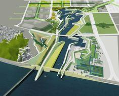 LEVEE CITY | PARKKIM Old Port, Design Language, Urban Design, Graphics, Graphic Design, Mountains, Architecture, City, Arquitetura