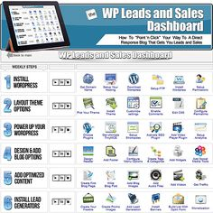 Get Marlon Sanders' new WP Leads & Sales Dashboard Today To Make Money Blogging