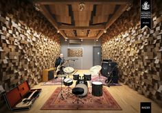 The ultimate home recording studio equipment site. Great deals and huge selection of home recording studio equipment. Drums Studio, Music Studio Room, Audio Studio, Sound Studio, Recording Studio Design, Design Studio, Home Studio Musik, Home Music Rooms, Espace Design