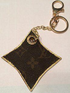 6e8b570b5e65 Louis Vuitton Handbag Charm or Key Chain Made From Authentic LV Bag  Authenticity