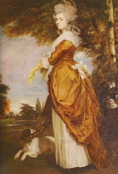 "Georgiana Cavendish, Duchess of Devonshire, the ""Lady Di"" of her day (Georgiana was even a Spencer prior to her marriage!)"