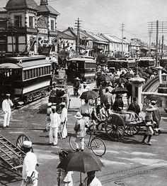 Japan. Traffic Congestion: Tokyo, 1905 //  Photographium