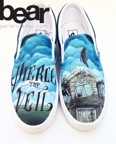 Custom vans hand painted shoes Pierce The Veil