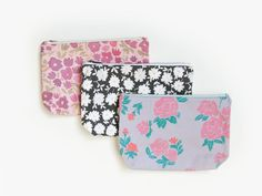 Floral Zipper Bag by leahgoren on Etsy