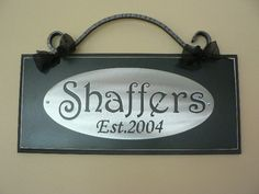 Custom Family Name with Est. Date/wedding/Anniversary/Shower/Christimas Gift. $44.00, via Etsy.