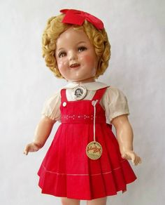 """22"""" Compo. Ideal SHIRLEY TEMPLE Doll From Little Miss Broadway 1938"""