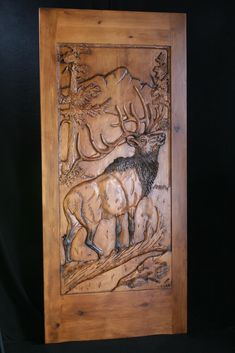 Wood carved door