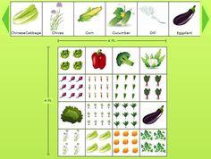 4x4 sample vegetable garden planner