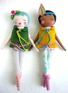Dolls with felt hair