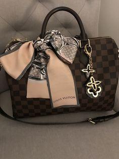 Louis Vuitton speedy b 30 damier ebene.... so pretty with lv bandeau. Louis  Vuitton BandeauPurses ... 3230305f3c8d5