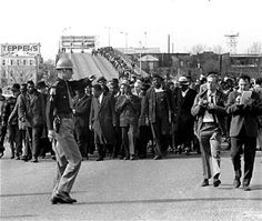 "On March 7, 1965, a group of 600 civil rights marchers is forcefully broken up in Selma, Alabama in what became known as ""Bloody Sunday"". Televised images of the brutal attack roused support for the U.S. civil rights movement."