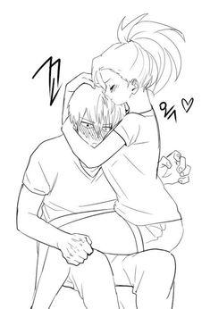 Yaoyorozu Momo x Todoroki Shouto / Boku no Hero Academia Anime Love Couple, Manga Couple, Cute Anime Couples, Boku No Hero Academia, My Hero Academia Manga, Hero Academia Characters, Anime Characters, Character Art, Character Design