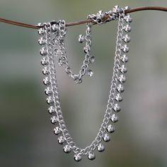$79 Sterling Silver Chain Necklace - Island Dew | NOVICA
