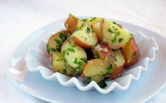 Secret to the perfect pressure cooked potato salad: slice the potatoes BEFORE cooking and THEN steam them! Shhhhhhh! (here is how in step-by-step photos) ; )