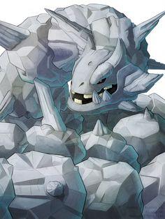 Steelix - by Ius-Iuris Scary Pokemon, Pokemon Mix, Mega Pokemon, Pokemon Fan Art, Cute Pokemon, Pokemon Stuff, Deviantart Pokemon, Video Game Art, Video Games