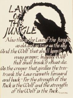 """Law of the Jungle"" by Rudyard Kipling"