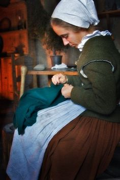 Pilgrim Wife at Plimoth Plantation by toddland, via Flickr