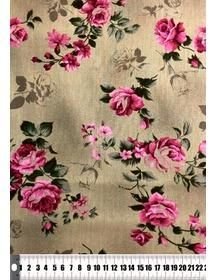 Tecido Floral Tricoline 100% Algodão