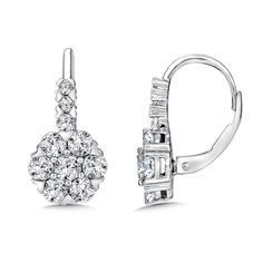 Caro74 Diamond Drop Earrings in 14K White Gold (1.95 ct. tw.) Style Number CFE665W