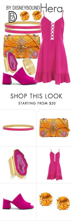 """""""Hera"""" by leslieakay ❤ liked on Polyvore featuring Kate Spade, Gucci, American Coin Treasures, Boohoo, Jeffrey Campbell, disney, disneybound and disneycharacter"""