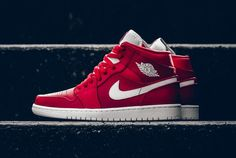 dcd7ff3d6aeb Air Jordan 1 Mid Gym Red White 554724-600 - Sneaker Bar Detroit Air Jordans