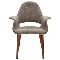 Mid-Century Modern Arm Chair Taupe