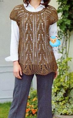 Crochet Sweater: Crochet Tunic Pattern For Women