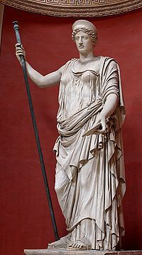 Roman copy of Phidean goddess, restored as Demeter (Museo Pio-Clementina)