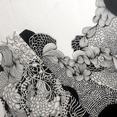 "Details from two black and white drawings from Helen Wells #pattern #blackandwhite #organic drawing"" #DrawingSketches"