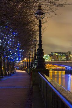 Southbank and Waterloo Bridge, London, UK