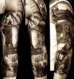 Incredible tattoo by Italian tattooist, Matteo Pasqualin.  His work blows my mind.  Amazingly realistic.
