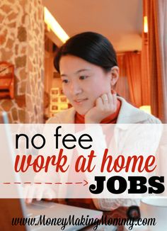 Providing job listings and resources of no fee work at home jobs for those wishing to telecommute. Work online, find out whose hiring today and apply.