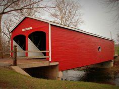 Covered Bridge Over Seven Mile Creek, Eaton, Ohio