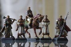 Projet 6 figurines évolutives, prêtres, Table dwarven forge, rpg terrain, diorama 28mm, figurines, miniatures