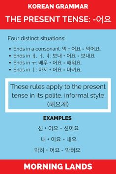 Tenses and conjugation are a big part of any language. Today I decided to go back to the basics and write this post on the Korean present tense. #LearnKorean #Korean #한국어