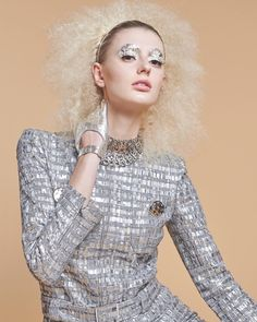 quick silver// fast-forward to the future with liquid-metal looks from our April fashion opener - on stands now! // : @nataliamantini // stylist: @wendymcnett // hair: @jakoby // makeup: @crazypretty // manicurist: @misspopnails // model: @lauren_ashley96 by nylonmag