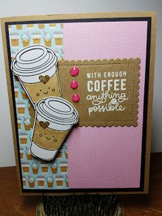Carpe Librium Creations: Simon Says Stamp Card Kit of The Month FEBRUARY 2017 COFFEE TEA AND COCOA