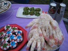 Halloween party -- love the hands!