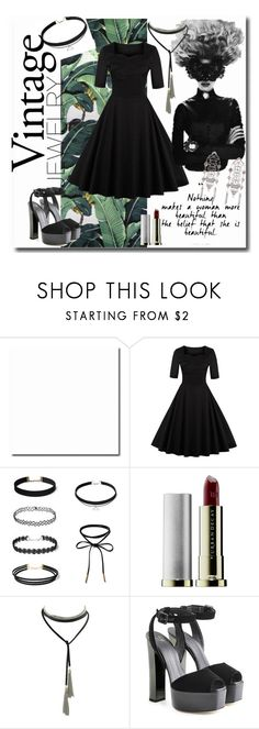 """""""2 Winners Win $20 Cash from Rosegal"""" by anna-frolova1996 ❤ liked on Polyvore featuring Urban Decay, Giuseppe Zanotti, vintage, eleganblack, StyleVintage and Vintageblack"""