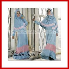 Baju gamis muslim modern nadin syar'i KM217 - Busana Muslim Terbaru