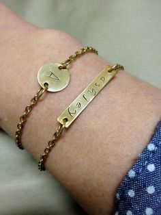 Personalized Hand Stamped Bracelet