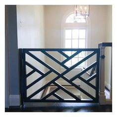 a little function & a little style Staircase Railing Design, Modern Stair Railing, Home Stairs Design, House Gate Design, Iron Stair Railing, Front Porch Railings, Railing Ideas, Balcony Grill Design, Balcony Railing Design