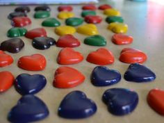 Recycled Heart Crayons