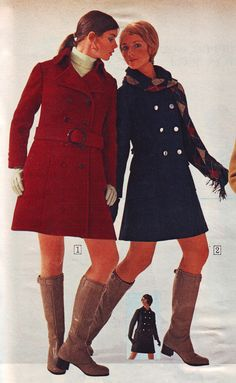 All sizes   Sears 1970 fw red and blue   Flickr - Photo Sharing!  Colleen Corby and Cay Sanderson.