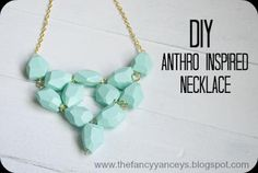 Vintage Romance: DIY Anthro Inspired Seafoam Necklace - these beads were originally lime green. Painted with gesso and acrylic craft paint. Trendy Jewelry, Jewelry Accessories, Handmade Jewelry, Jewelry Design, Fashion Jewelry, Amber Jewelry, Recycled Jewelry, Statement Jewelry, Pearl Jewelry