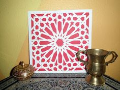 Islamic sytle paper mosaic cheap and quite striking